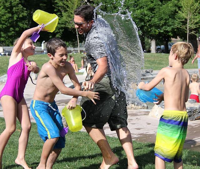 děti,voda, léto