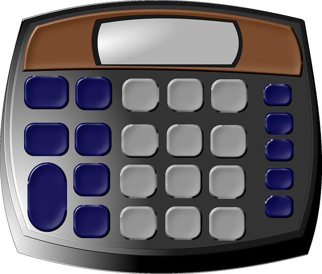 kalkulačka ilustrace