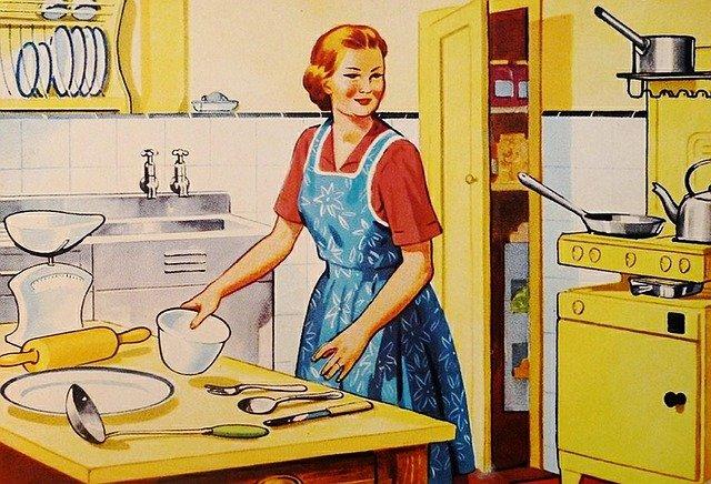 hospodyně v kuchyni
