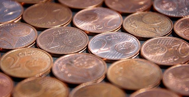 drobné měděné mince