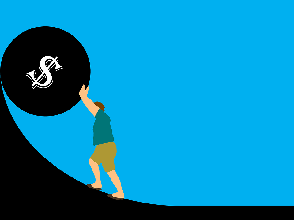 tlačení dluhu
